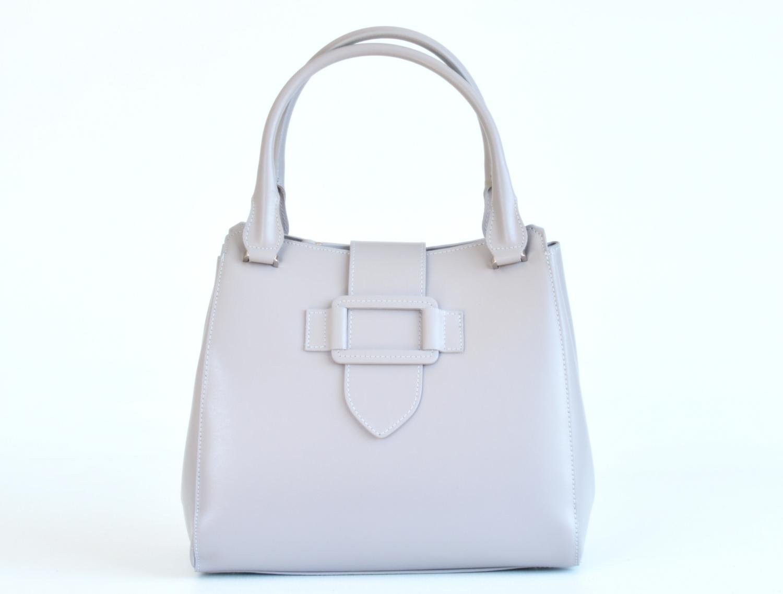 ebc6b26ceac Bright Elegantní dámská kabelka kožená A4 do ruky perleťová bílá ...