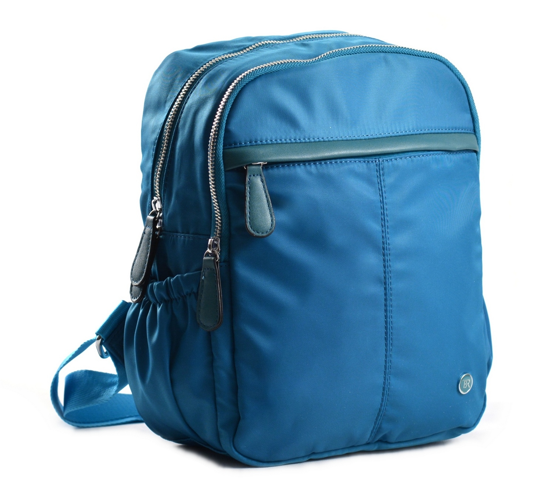 Bright Dámský batoh se 2 zipy a bočními kapsami větší A5 tyrkysový