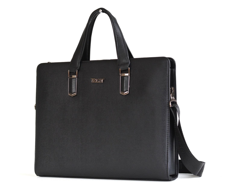 Bright Elegantní taška na dokumenty A4 hladká černá, 38 x 6 x 30 (BR17-BT1912.3-09SYN)