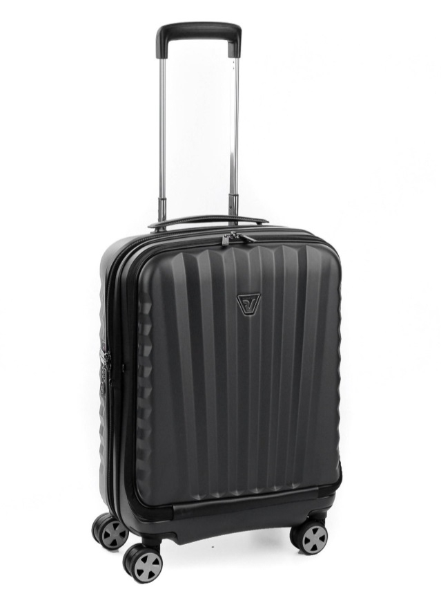 """RONCATO Kufr na notebook 17"""" UNO DLX 55/20 Spinner Expander Cabin Black, 35 x 20 x 55 (41955301-01)"""