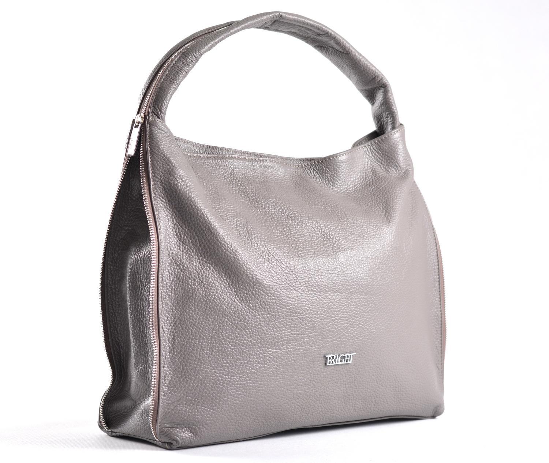 Bright Kabelka-vak kožená A4 rozšiřovatelná měkká šedá, 37 x 12 x 33 (BR17-LP2046-48DOL)