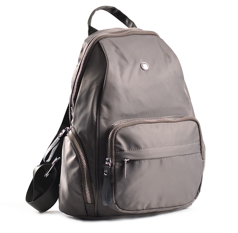 Bright Klasický dámský batoh s kapsami větší A5 vybavený šedý