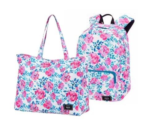 AT Plážový set - batoh + taška Sunside Print Colour flowers, 41 x 17 x 33 (125184/8175)