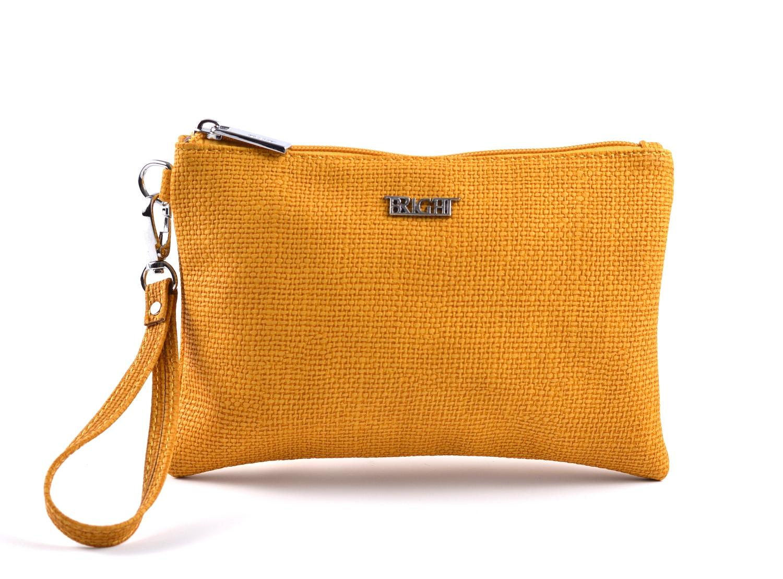Bright etue (kapsa) dámská strukturovaná přes ruku žlutá