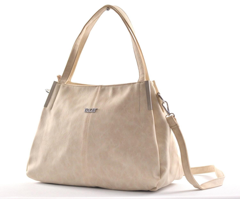 Bright Fashion kabelka-vak syntetická A4 smetanová, 36 x 13 x 28 (BR18-WJ344-35SYN)