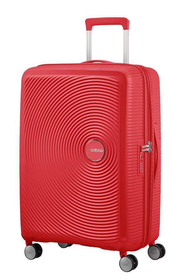 Levně AT Kufr Soundbox Spinner Expander 67/29 Coral Red, 47 x 29 x 67 (88473/1226)