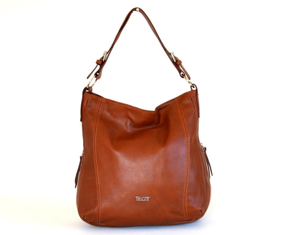 Kožená kabelka vak A4 rozšiřovatelná měkká nnědá, 29 x 13 x 33 (XBR16-LP9060-13SAV)