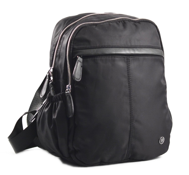 Bright Dámský batoh se 2 zipy a bočními kapsami větší A5 černý