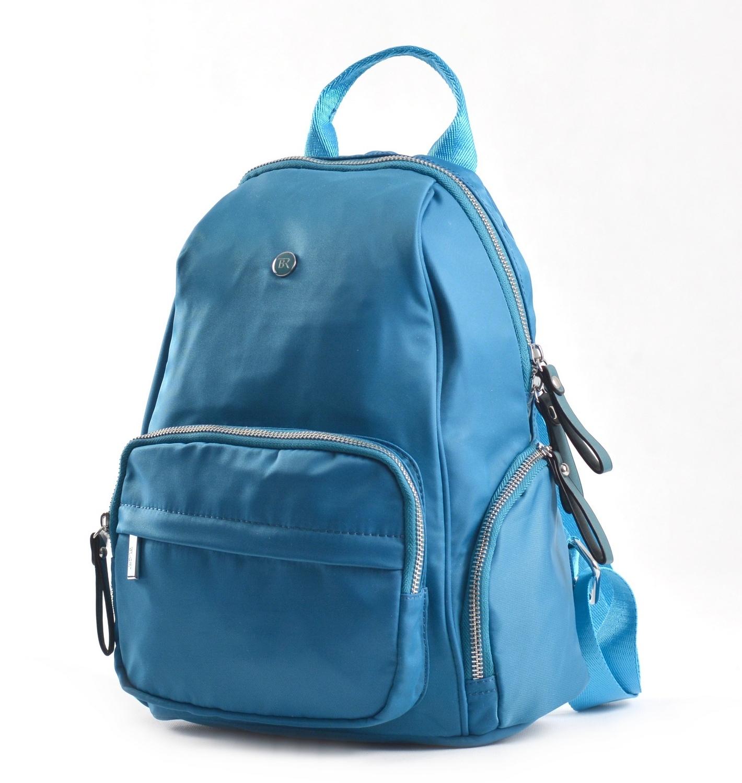 Bright Klasický dámský batoh s kapsami větší A5 vybavený tyrkysová