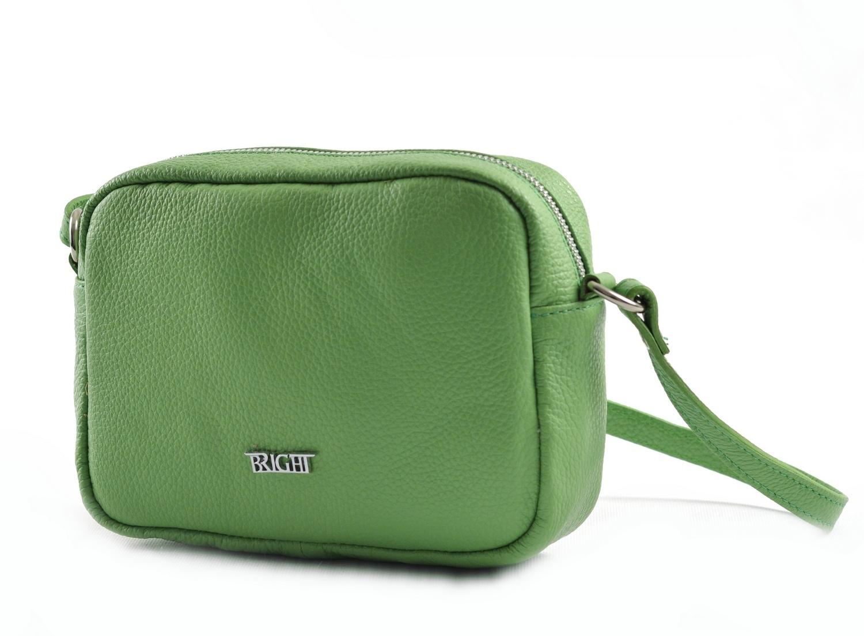 Bright Dámská kapsa klasická hladká kožená zelená