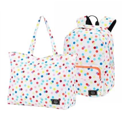 AT Plážový set - batoh + taška Sunside Print Polka dot, 41 x 17 x 33 (125184/4085)