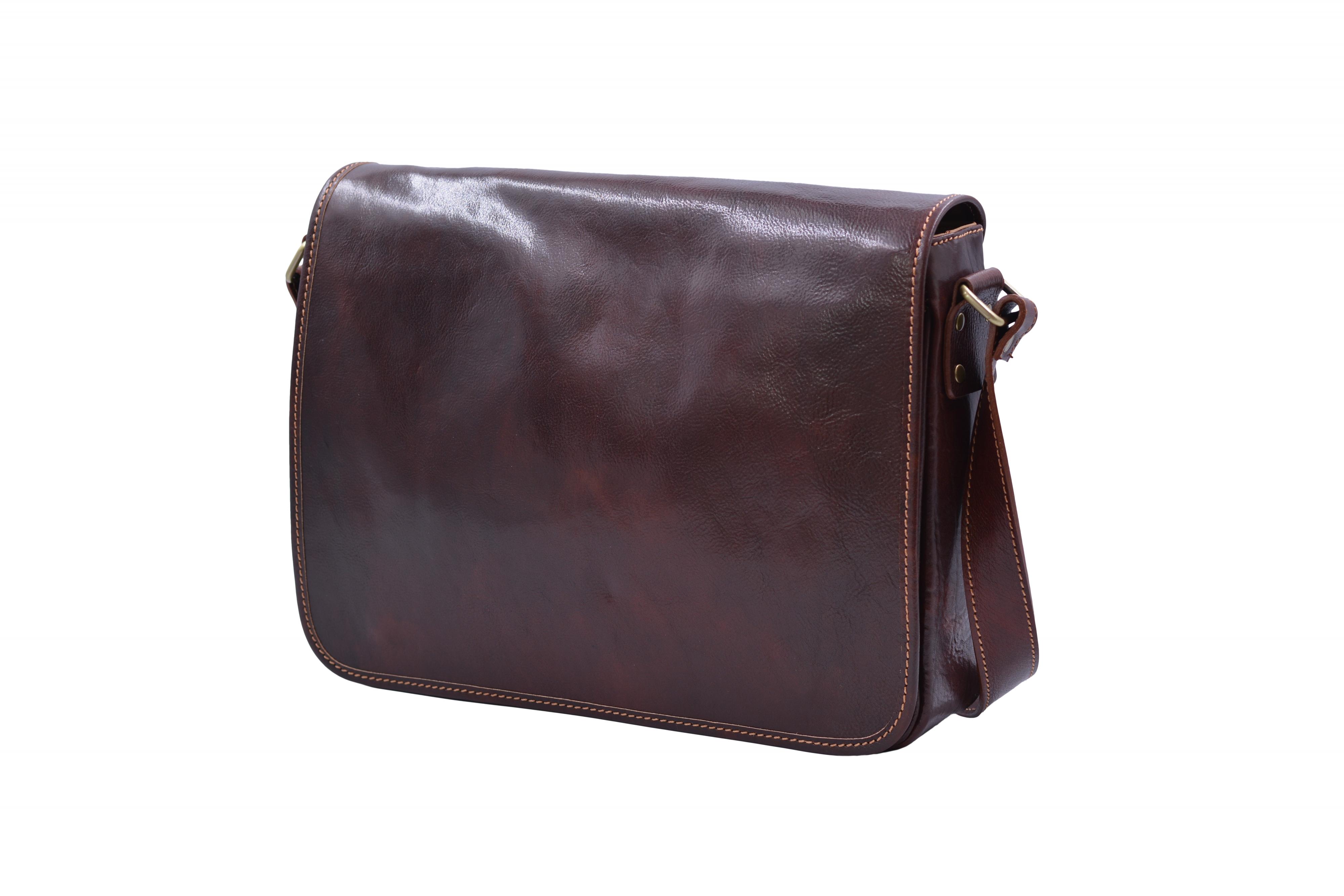 Kožená taška na dokumenty A4 Hnědá, 37 x 9 x 28 (XT00-CR6548-03TAM)
