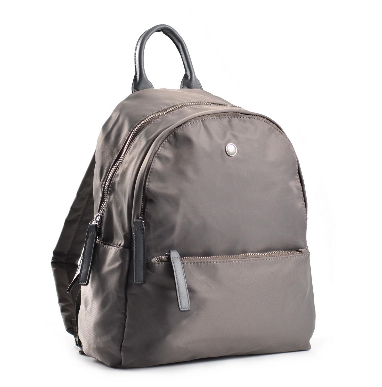 Bright Elegantní dámský batoh větší A5 vybavený šedý
