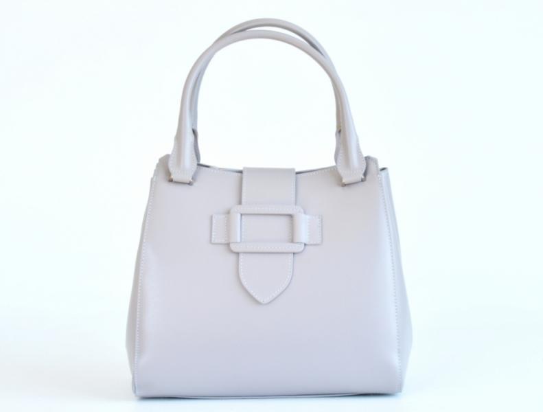 c27a70beed Bright Elegantní dámská kabelka kožená A4 do ruky perleťová šedá - Bright Elegantní  dámská kabelka kožená A4 do ruky perleťová šedá   DOMIbags.cz