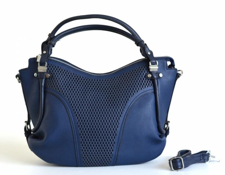 akce Bright Kabelka A4 perforovaná na šířku měkká syntetická handbag modrá 9c6905d4123