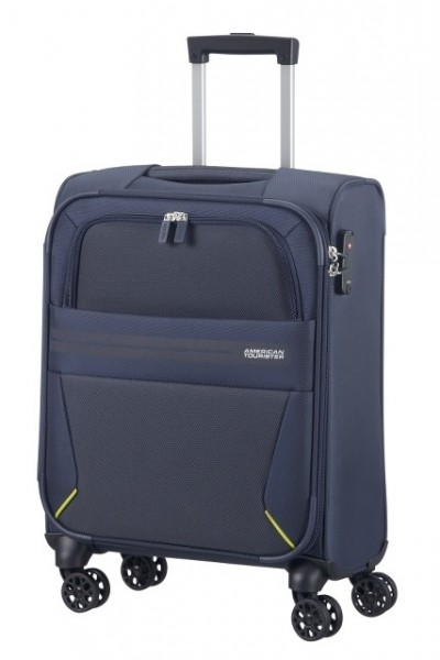 AMERICAN TOURISTER Kufr Summer Voyager Spinner 55/20 malý soft Cabin Midnight blue