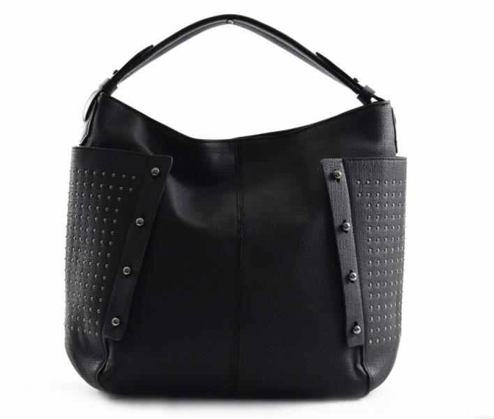 Bright Dámská kabelka A4 přes rameno s cvočky černá - Bright Dámská ... bb8c3ea75ad