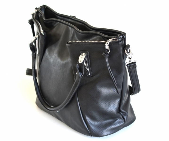 ... Bright Fashion kabelka skládaná A4 přes rameno se zipy světle modrá ... 64fb0cfd825