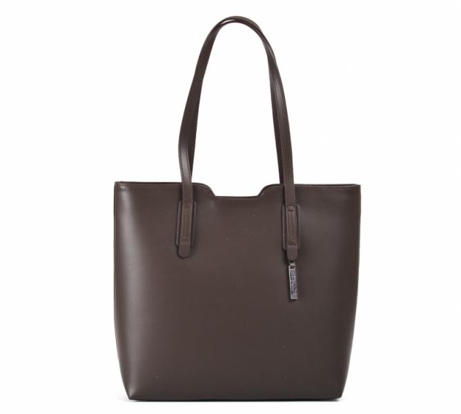 BRIGHT Elegantní kabelka kožená přes rameno handbag A4 červená