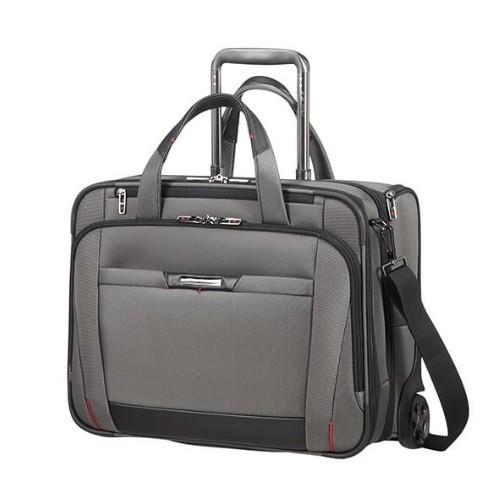 """Samsonite Taška na notebook na kolečkách 15,6"""" PRO-DLX 5 Laptop case with wheels Expander Cabin Metalic grey"""