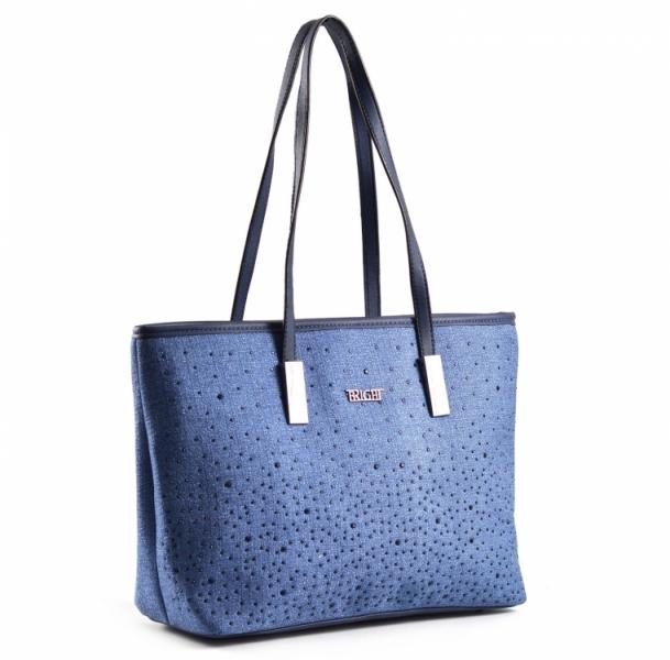 3c7c6fece8 Bright Krásná elegantní kabelka s kamínky A4 modrá - Bright Krásná elegantní  kabelka s kamínky A4 Handbag modrá   DOMIbags.cz