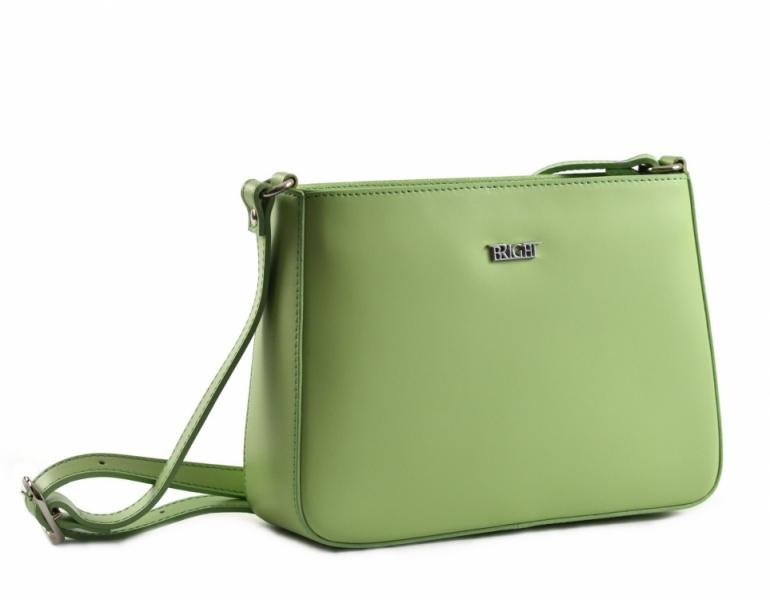652165fc4d Bright Dámská kabelka menší kožená jednoduchá zelená - Bright Dámská kabelka  menší kožená jednoduchá Handbag zelená   DOMIbags.cz
