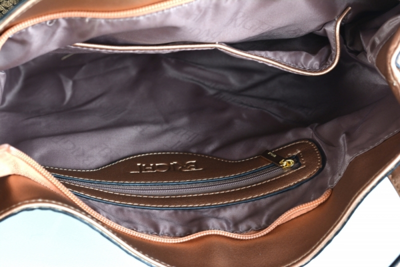 ... Bright Krásná kabelka přes rameno handbag s ozdobným uchem velká  bronzová d17798f7eae