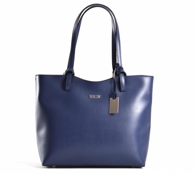 e2c09afc2d Bright Elegantní kabelka dámská kožená střední klasická modrá - Bright  Elegantní kabelka dámská kožená střední klasická handbag modrá   DOMIbags.cz