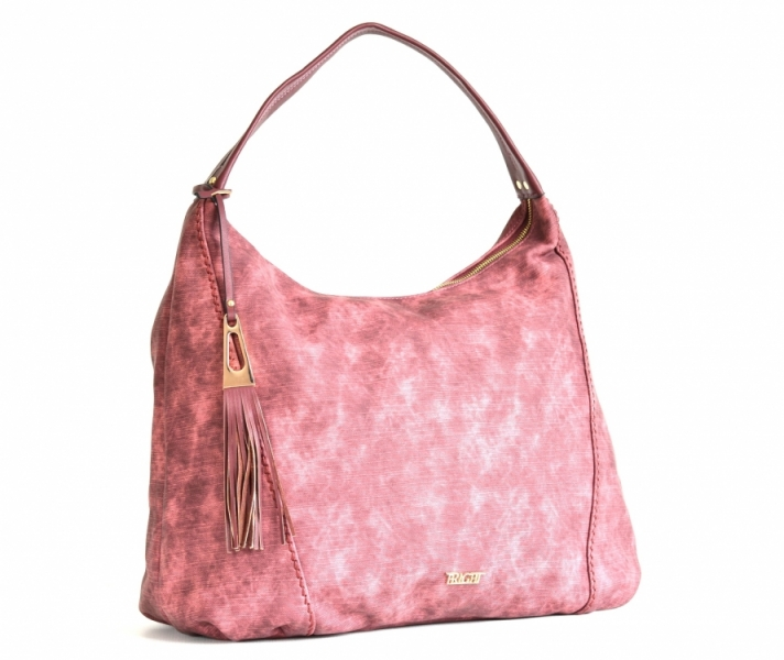 Bright Fashion kabelka přes rameno A4 se střapcem projmutá bordó ... b7f9116978a