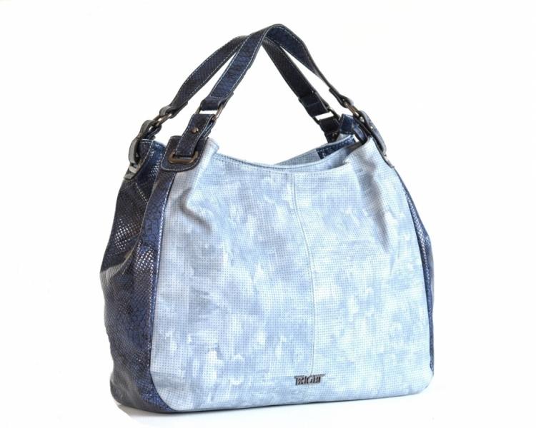 303d9b8fad Bright Elegantní kabelka přes rameno velká A4 objemná modrá - Bright  Elegantní kabelka přes rameno velká shopper A4 objemná modrá   DOMIbags.cz