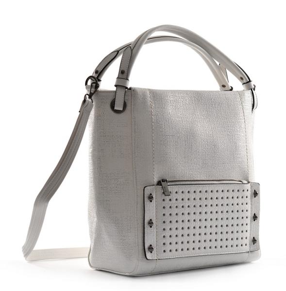 Bright Dámská kabelka A4 přes rameno s cvočky stříbrná - Bright ... 0070c1bce55