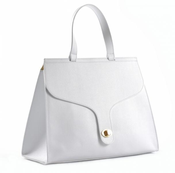 a0bdfa54616 doprava zdarma Bright Elegantní dámská kabelka s klopnou a zámkem A4 do  ruky bílá