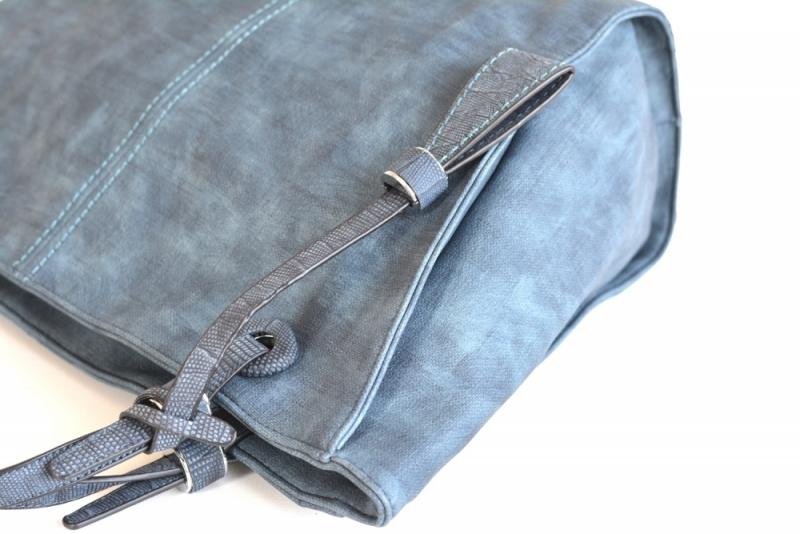 ... Bright Elegantní kabelka přes rameno velká shopping bag A4 široká modrá  ... 744740839b1