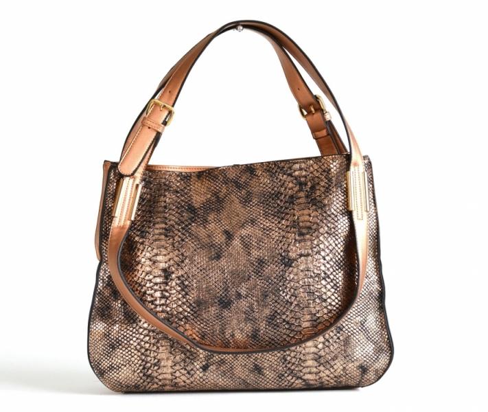 akce Bright Krásná kabelka přes rameno handbag s ozdobným uchem velká  bronzová 40c0d8ef3ac