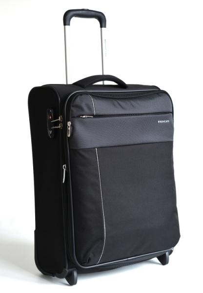 Roncato Kufr S Infinity Upright 55/20 2 kolečka soft malý Cabin rozšiřovatelný Expander Black