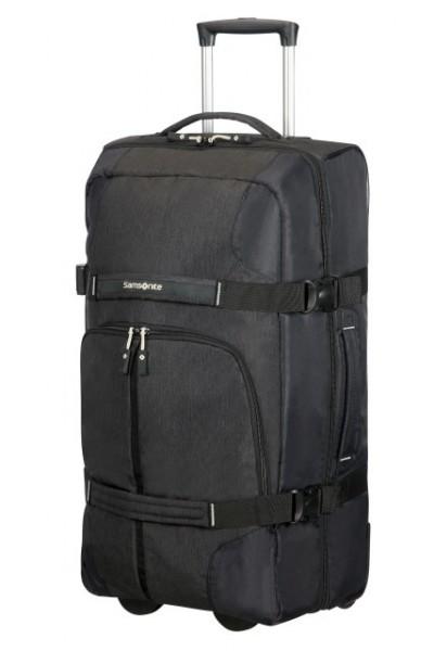 doprava zdarma SAMSONITE Cestovní taška na kolečkách Rewind Duffle with  wheels 68 25 black 47cd6e4b91