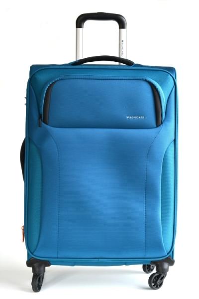 Roncato Kufr M Zenith Spinner 67/26 4 kolečka soft střední rozšiřovatelný Expander Blue