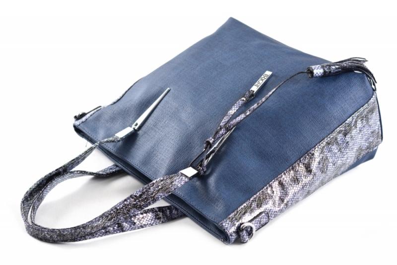 ... Bright Fashion kabelka A4 s hadím vzorem velká Shopping bag modrá ... 6d9047c5242