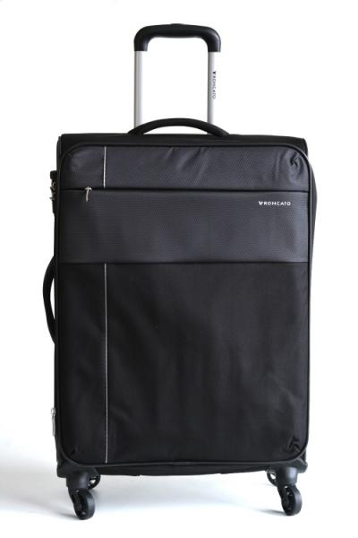 Roncato Kufr M Infinity Spinner 67/26 4 kolečka soft střední rozšiřovatelný Expander Black