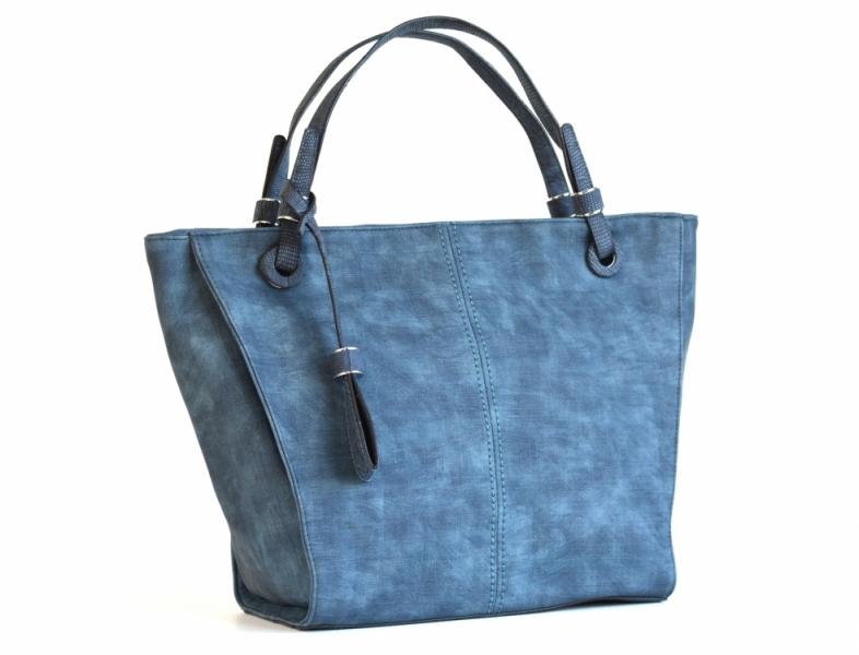 akce Bright Elegantní kabelka přes rameno velká shopping bag A4 široká modrá 2080550978b