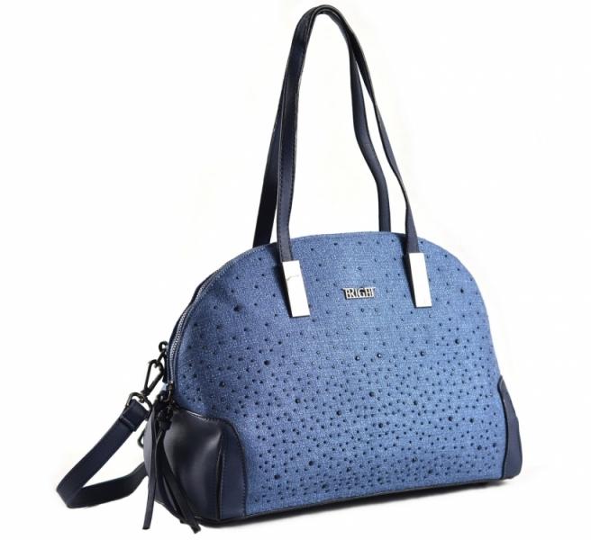 15729a5f7a Bright Elegantní kabelka s kamínky oblá větší A5 modrá - Bright Elegantní  kabelka s kamínky oblá větší A5 Handbag modrá   DOMIbags.cz