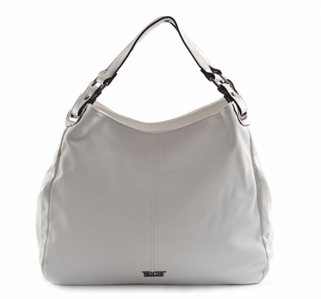Bright Dámská kabelka velká A4 přes A4 Handbag bílá