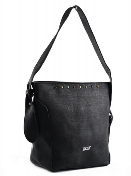 Bright Dámská kabelka větší A5 přes rameno mramorovaná Handbag černá
