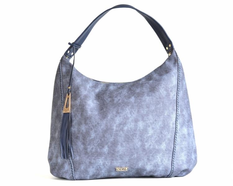 Bright Fashion kabelka přes rameno A4 se střapcem projmutá modrá ... b6c96d6f07c