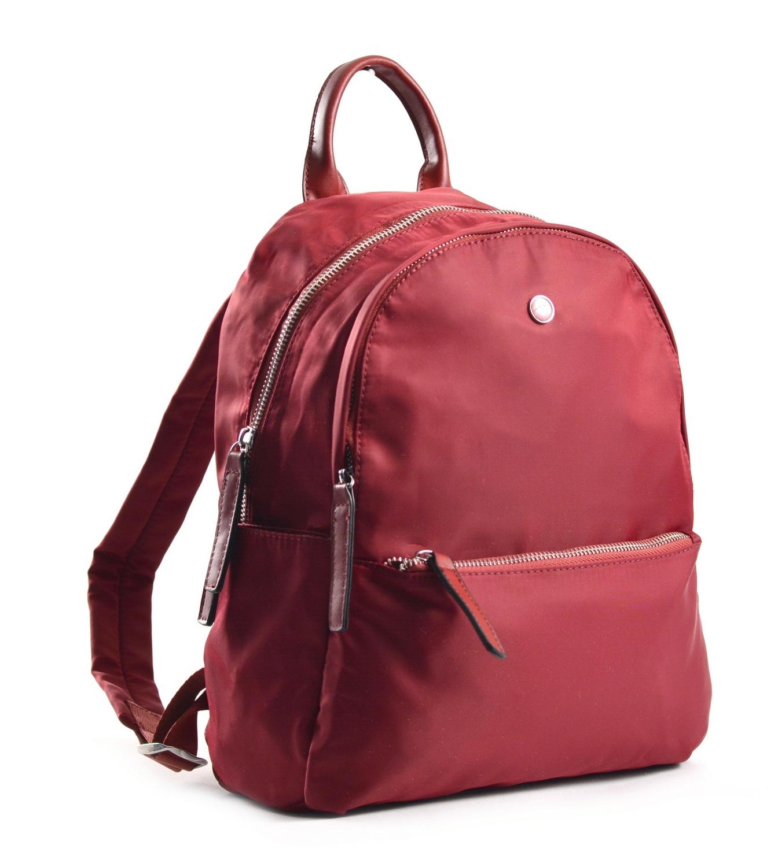 Bright Elegantní dámský batoh větší A5 vybavený bordó