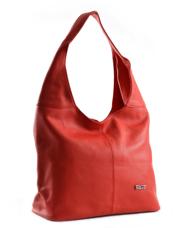 Bright fashion kabelka/vak kožená A4 červená, 33 x 15 x 32 (BR18-AGJ4013-00DOL)