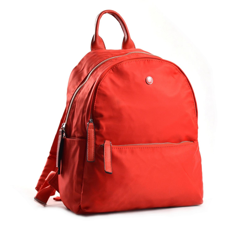 Bright Elegantní dámský batoh větší A5 vybavený červený