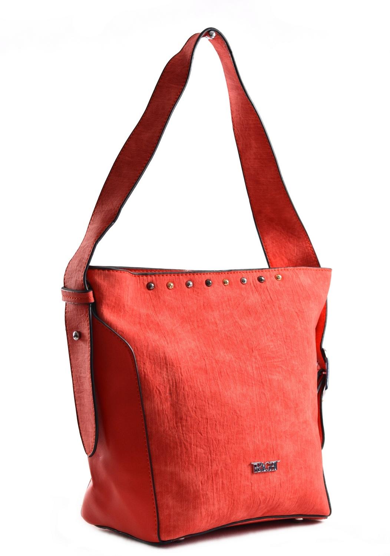 Bright Dámská kabelka větší A5 přes rameno mramorovaná červená