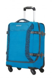 American tourister Kufr Road quest Spinner Duffle 55/20 Cabin na palubu soft látková blue star print