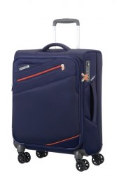 American tourister Kufr Pikes peak Spinner 55/20 Cabin soft carbon blue